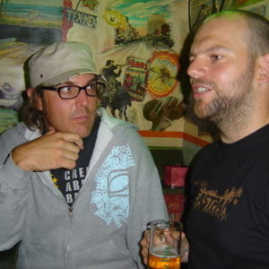 MikeV in Berlin in 2006 with Andy