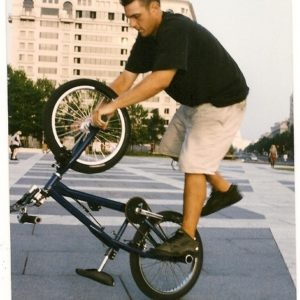 MikeV with his BMX